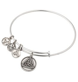 BRACELETS & BANGLES CLEARANCE - SOLVAR SILVER TONE CELTIC KNOT CHARM BANGLE - FINAL SALE
