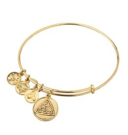 BRACELETS & BANGLES CLEARANCE - SOLVAR GOLD TONE CELTIC KNOT CHARM BANGLE - FINAL SALE