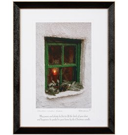 PLAQUES & GIFTS CHRISTMAS WINDOW PRINT 9X12