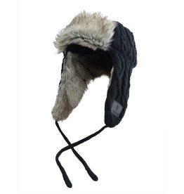 CAPS & HATS GUINNESS BLACK LUMBERJACK STYLE KNITTED HAT