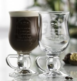 BARWARE GALWAY CRYSTAL IRISH COFFEE GLASSES - BLESSING (2)