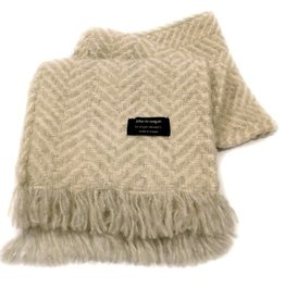 ACCESSORIES BRANIGAN WEAVERS SCARF - DOVE CREAM