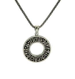"PENDANTS & NECKLACES KEITH JACK STERLING VIKING RUNE PENDANT- ""REMEMBER ME..."""