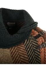 CAPES & RUANAS BRANIGAN SHAWL COLLAR PONCHO - Multi Rust