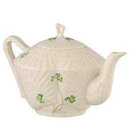 TEAPOTS, MUGS & ACCESSORIES BELLEEK HARP SHAMROCK TEAPOT