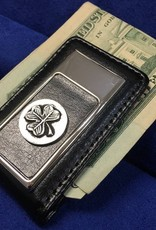 ACCESSORIES MULLINGAR PEWTER LEATHER MONEY CLIP