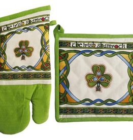 KITCHEN & ACCESSORIES CELTIC WEAVE SHAMROCK OVEN MITT/POT HOLDER