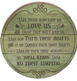 "DECOR ""LIMPING BLESSING"" BARREL PLAQUE"