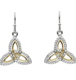 EARRINGS CLEARANCE - SHANORE STERLING & GOLD PLATE TRINITY EARRINGS with CZs - FINAL SALE