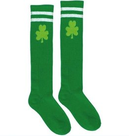 ST PATRICK'S DAY NOVELTY SHAMROCK TUBE SOCKS