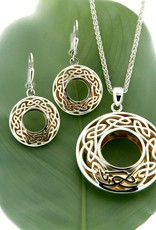 PENDANTS & NECKLACES KEITH JACK STERLING & 22K WINDOW TO THE SOUL LRG ROUND PENDANT