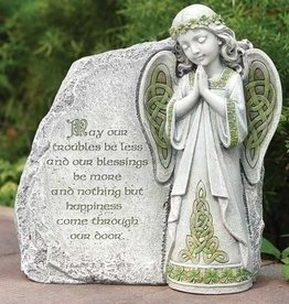 GARDEN IRISH ANGEL GARDEN STONE with BLESSING