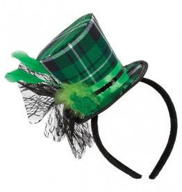 ST PATRICK'S DAY NOVELTY PLAID TOP HAT HEADBAND