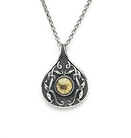 PENDANTS & NECKLACES BORU STERLING & 18K TEARDROP CELTIC WARRIOR PENDANT
