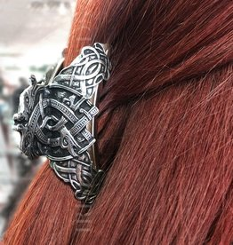 ACCESSORIES MULLINGAR PEWTER LARGE CELTIC HAIR CLASP
