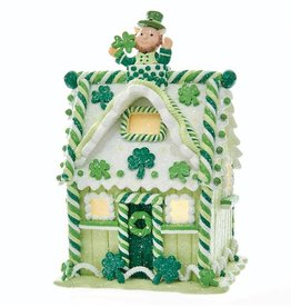 HOLIDAY IRISH GINGERBREAD LED HOUSE
