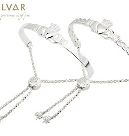 BRACELETS & BANGLES SOLVAR STERLING CLADDAGH DRAWSTRING BANGLE