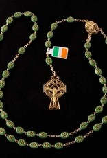 ROSARIES & JEWELRY SHAMROCK IRISH ROSARY