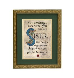 "PLAQUES, SIGNS & POSTERS ""SISTER"" BLESSING MANUSCRIPT 8X10 PLAQUE"