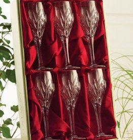 BARWARE GALWAY CRYSTAL CLIFDEN WINE GOBLETS (6)