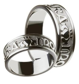 RINGS CLEARANCE - BORU STERLING GENTS MO ANAM CARA RING - FINAL SALE
