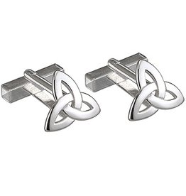 MENS JEWELRY SOLVAR STERLING TRINITY CUFF LINKS