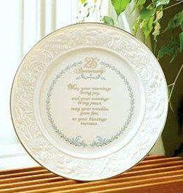 PLATES, TRAYS & DISHES BELLEEK 25TH ANNIVERSARY PLATE