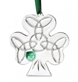 "ORNAMENTS EMERALD CRYSTAL 3.5"" SHAMROCK ORNAMENT"