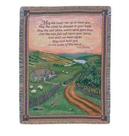TAPESTRIES, THROWS, ETC. BLESSINGS OF IRELAND THROW