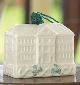 HOLIDAY BELLEEK POTTERY BELL BELLEEK ORNAMENT
