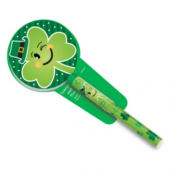 ST PATRICK'S DAY NOVELTY SHAMROCK PEN with NOTE PAD
