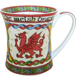KITCHEN & ACCESSORIES CELTIC WEAVE 'WELSH DRAGON' MUG