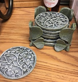 BAR GREEN SHAMROCK COASTERS