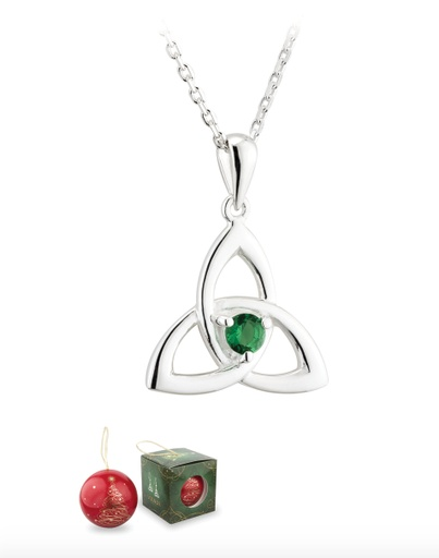 4cb5ab306aaf73 PENDANTS & NECKLACES SOLVAR CHRISTMAS BAUBLE & PLATED TRINITY PENDANT with  ...