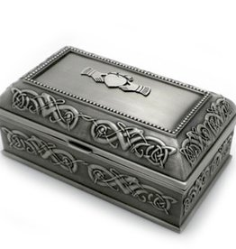 DECOR MULLINGAR PEWTER JEWELRY BOX LARGE