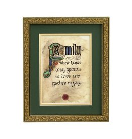 "PLAQUES & GIFTS ""FAMILY BLESSING"" MANUSCRIPT 8X10 PLAQUE"
