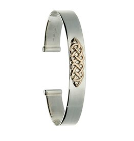 BRACELETS & BANGLES KEITH JACK STERLING & 10K CELTIC KNOT BANGLE