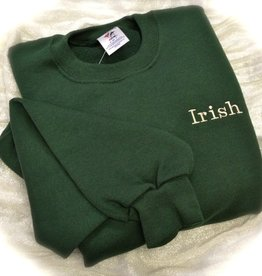 "SWEATSHIRTS ""IRISH"" EMBROIDERED SWEATSHIRT"