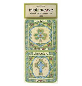 BAR CELTIC WEAVE IRISH COASTERS (4)