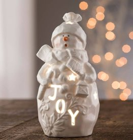 "SNOWMEN BELLEEK LIVING ""JOY"" SNOWMAN VOTIVE"