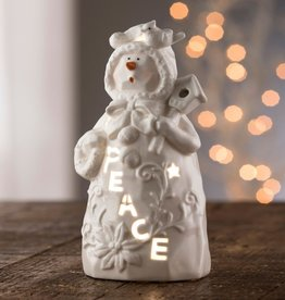 "SNOWMEN BELLEEK LIVING ""PEACE"" SNOWMAN VOTIVE"
