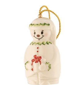 ORNAMENTS BELLEEK ELF SNOWMAN BELL ORNAMENT