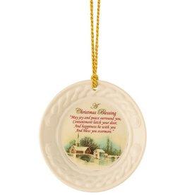 ORNAMENTS BELLEEK CHRISTMAS BLESSING ORNAMENT