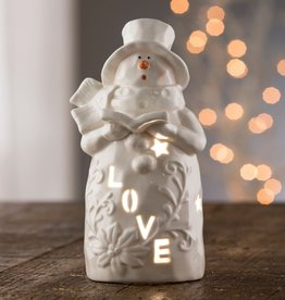 "SNOWMEN BELLEEK LIVING ""LOVE"" SNOWMAN VOTIVE"