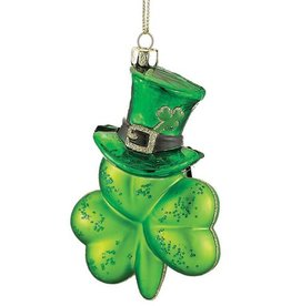 ORNAMENTS SHAMROCK with HAT ORNAMENT