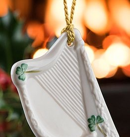 ORNAMENTS BELLEEK HARP ORNAMENT