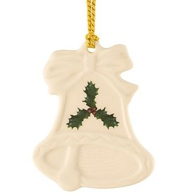ORNAMENTS BELLEEK HOLLY BELL SHAPED ORNAMENT