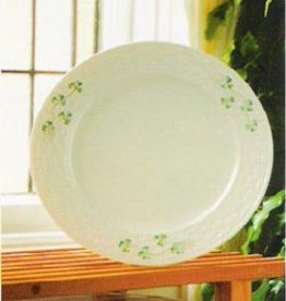 PLATES, TRAYS & DISHES BELLEEK SHAMROCK DINNER PLATE