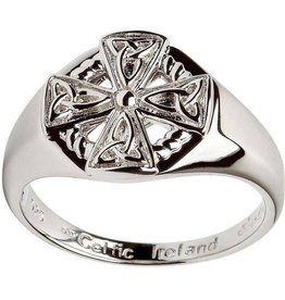 RINGS CLEARANCE - SHANORE STERLING GENTS CELTIC CROSS RING - FINAL SALE