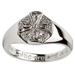 RINGS CLEARANCE - SHANORE STERLING LADIES CELTIC CROSS RING - FINAL SALE